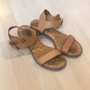Sam Edelman sandals with gold heel